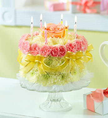Flower Cake For Flower Delivery!